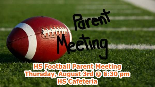 HS Football Parent Meeting