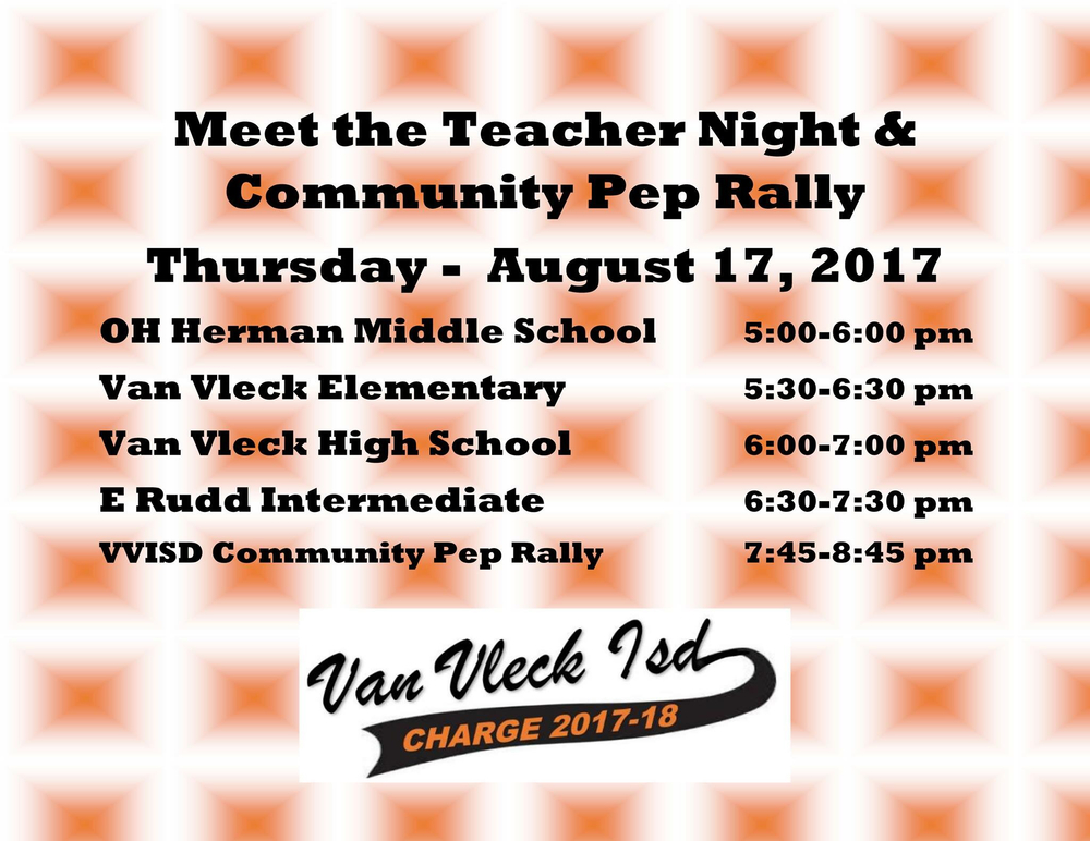 Meet the Teacher & Community Pep Rally