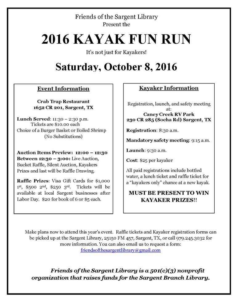2016 KAYAK FUN RUN​
