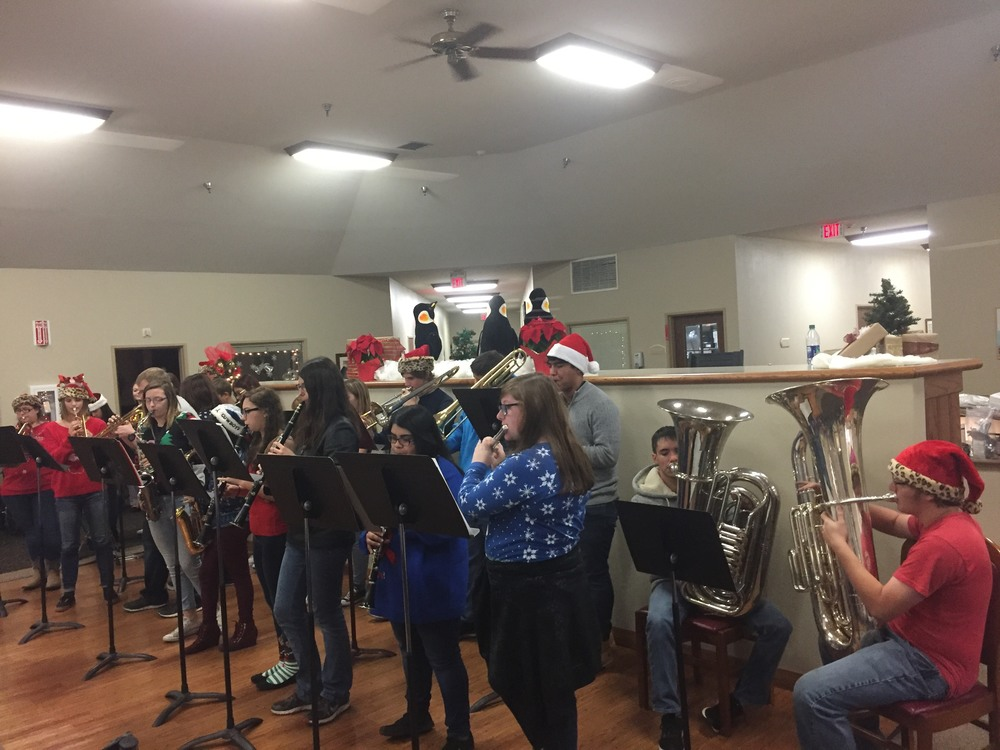 Mighty Leopard Band Visits Local Nursing Homes